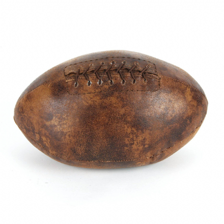 Brown Leather Effect Rugby Ball / American Football Sports Doorstop